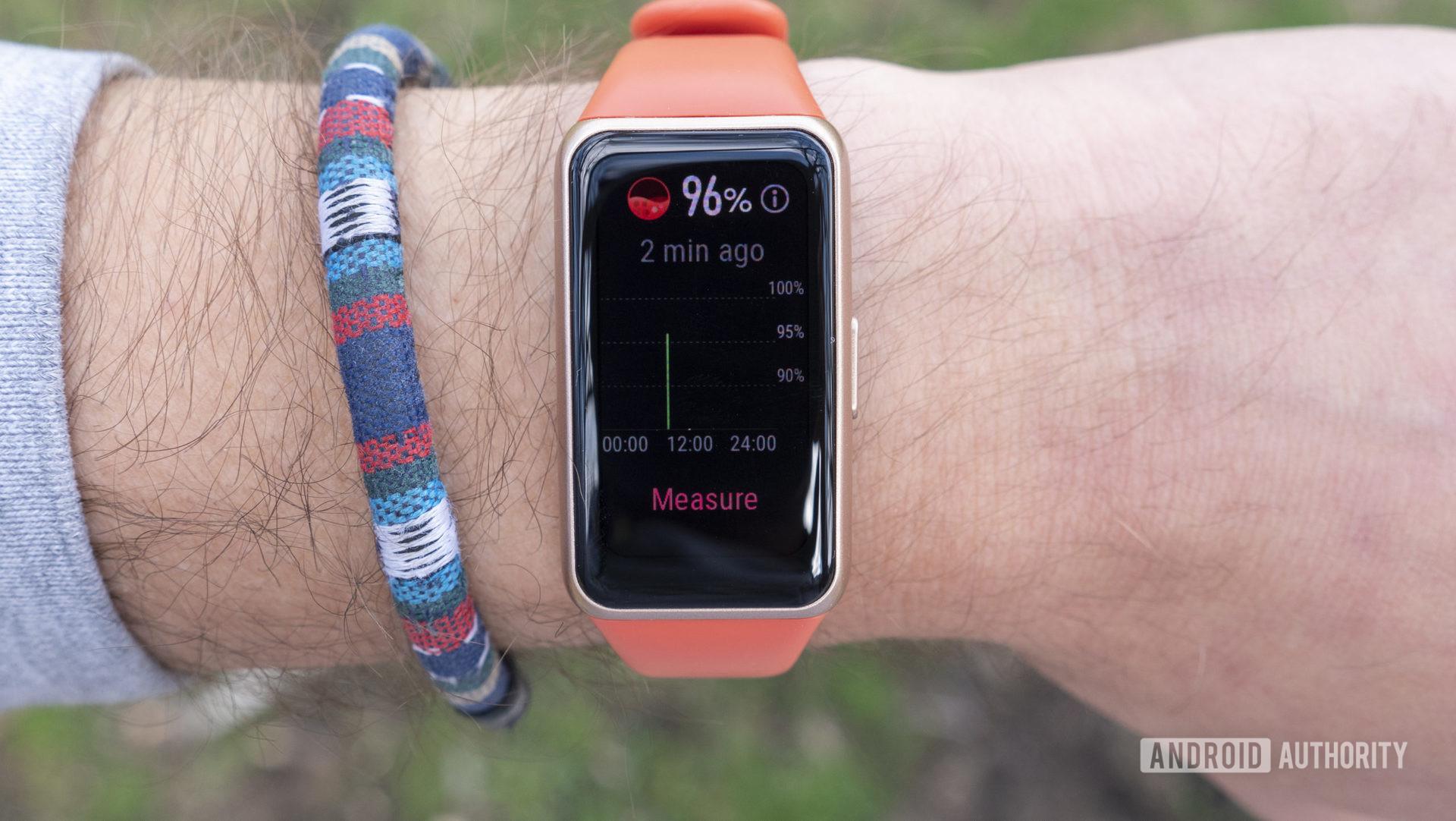 Huawei Band 6 review spo2 blood oxygen
