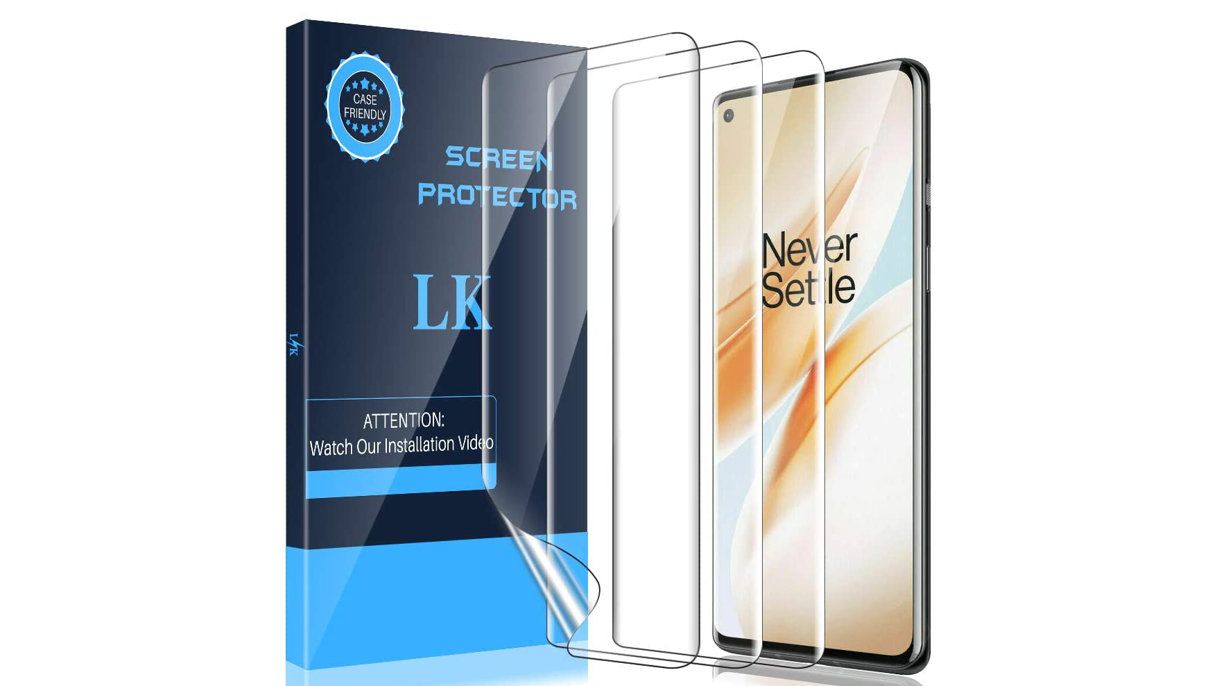 LK 3 Pack Screen Protector Compatible with OnePlus 8