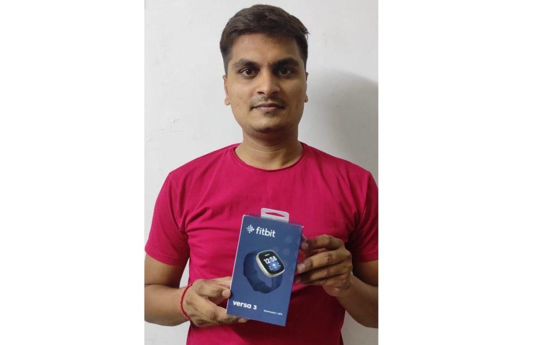Mitesh M Fitbit Versa 3 Giveaway Winner