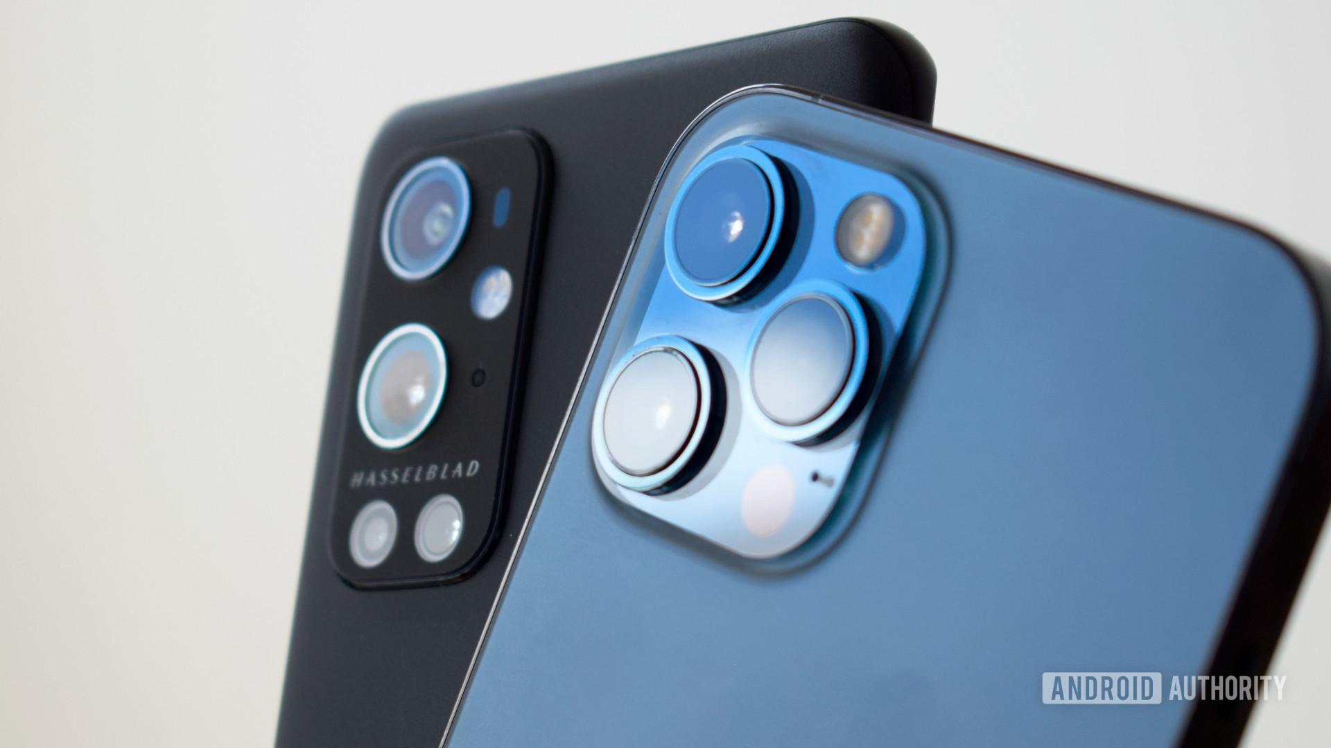 OnePlus 9 Pro vs Apple iPhone 12 Pro Max cameras bright