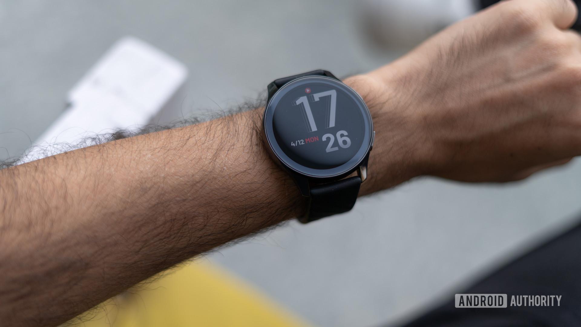 OnePlus Watch on wrist