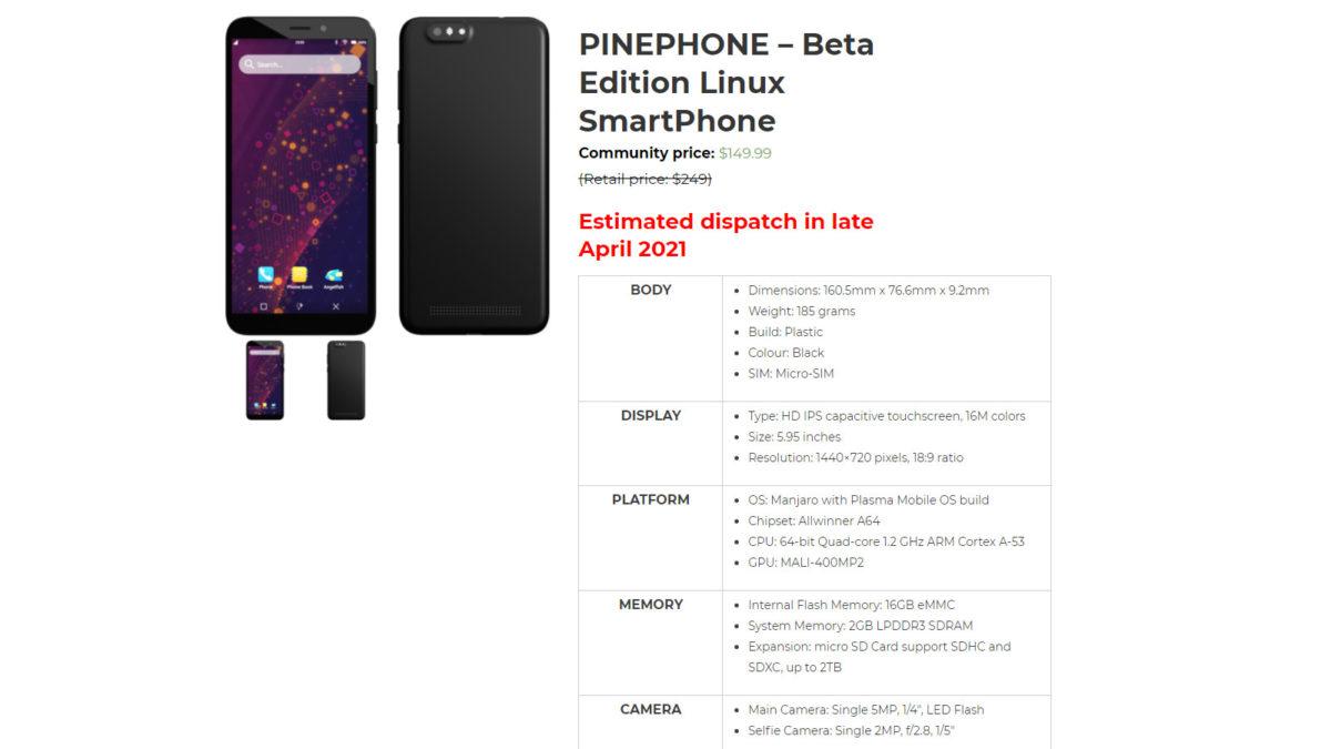 PinePhone beta edition