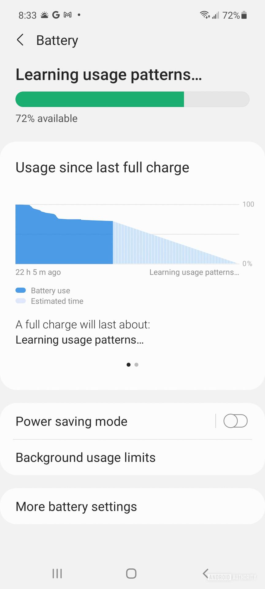Samsung Galaxy A52 5G battery 1