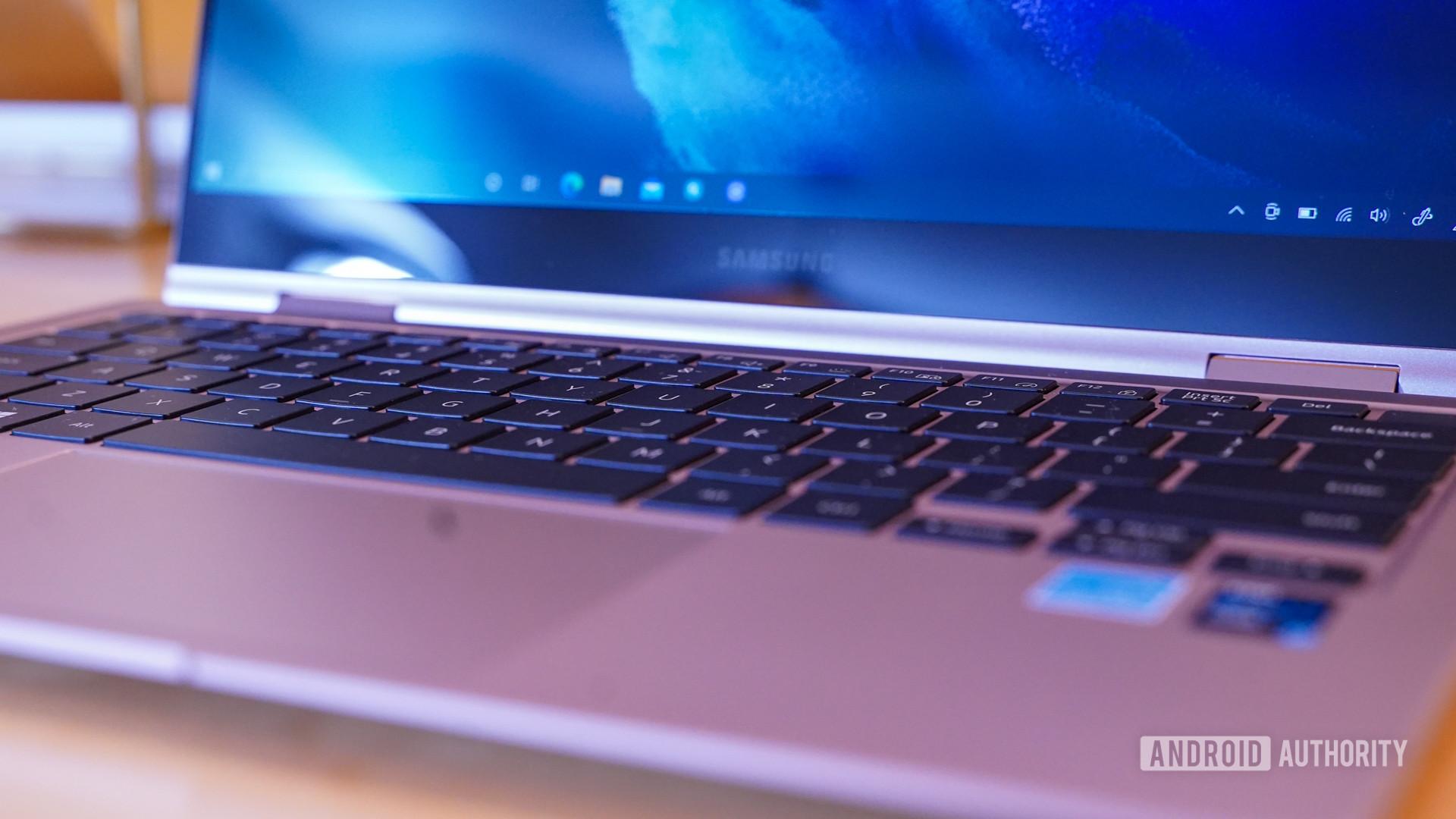 Samsung Galaxy Book Pro keyboard closeup