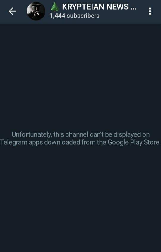 Telegram blocked channel
