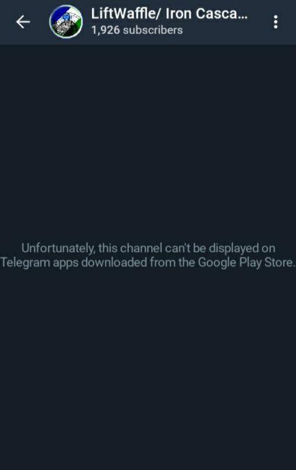 Telegram restrictions Google Play Store