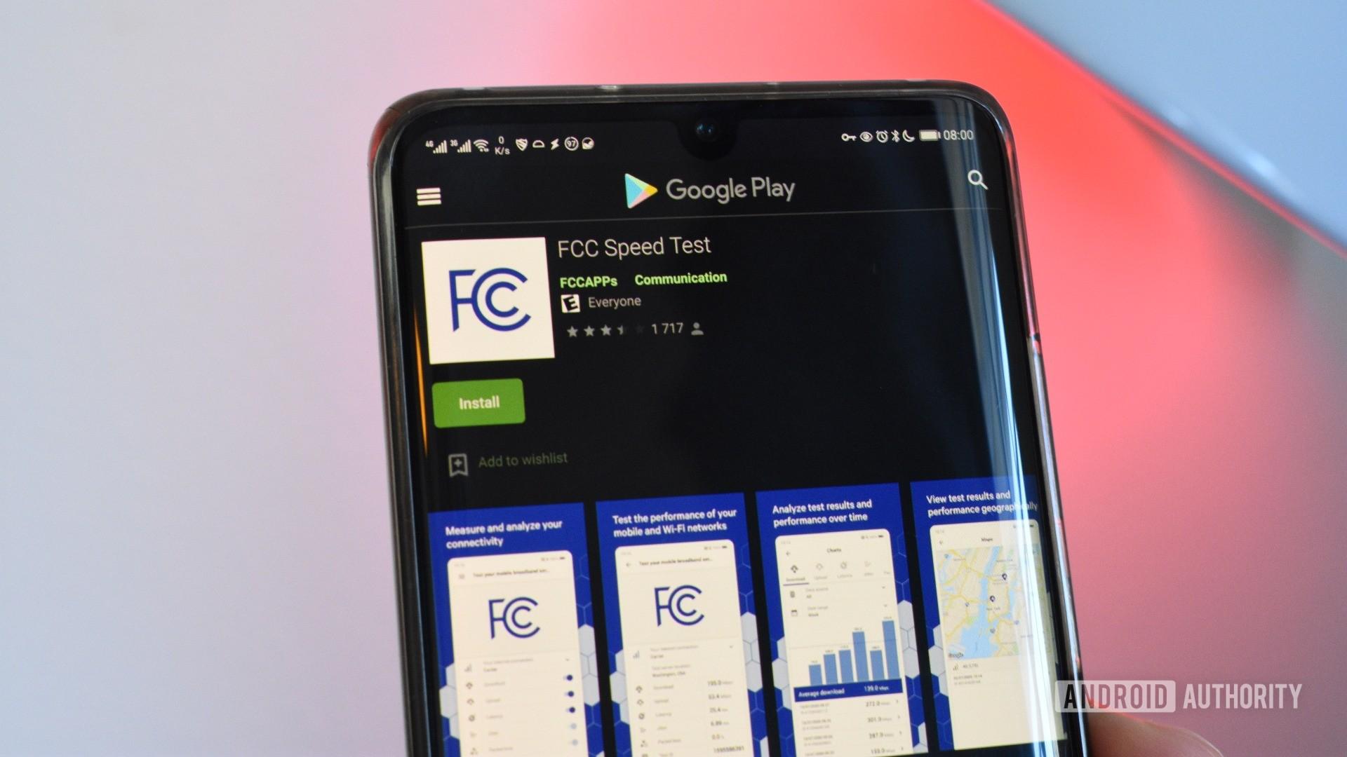 fcc speed test app google play