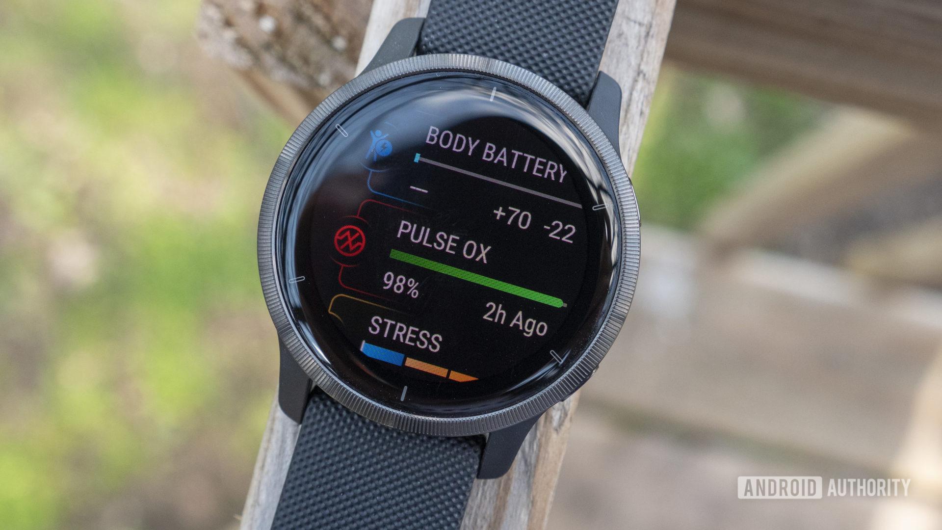 garmin venu 2 review glances body battery pulse ox stress