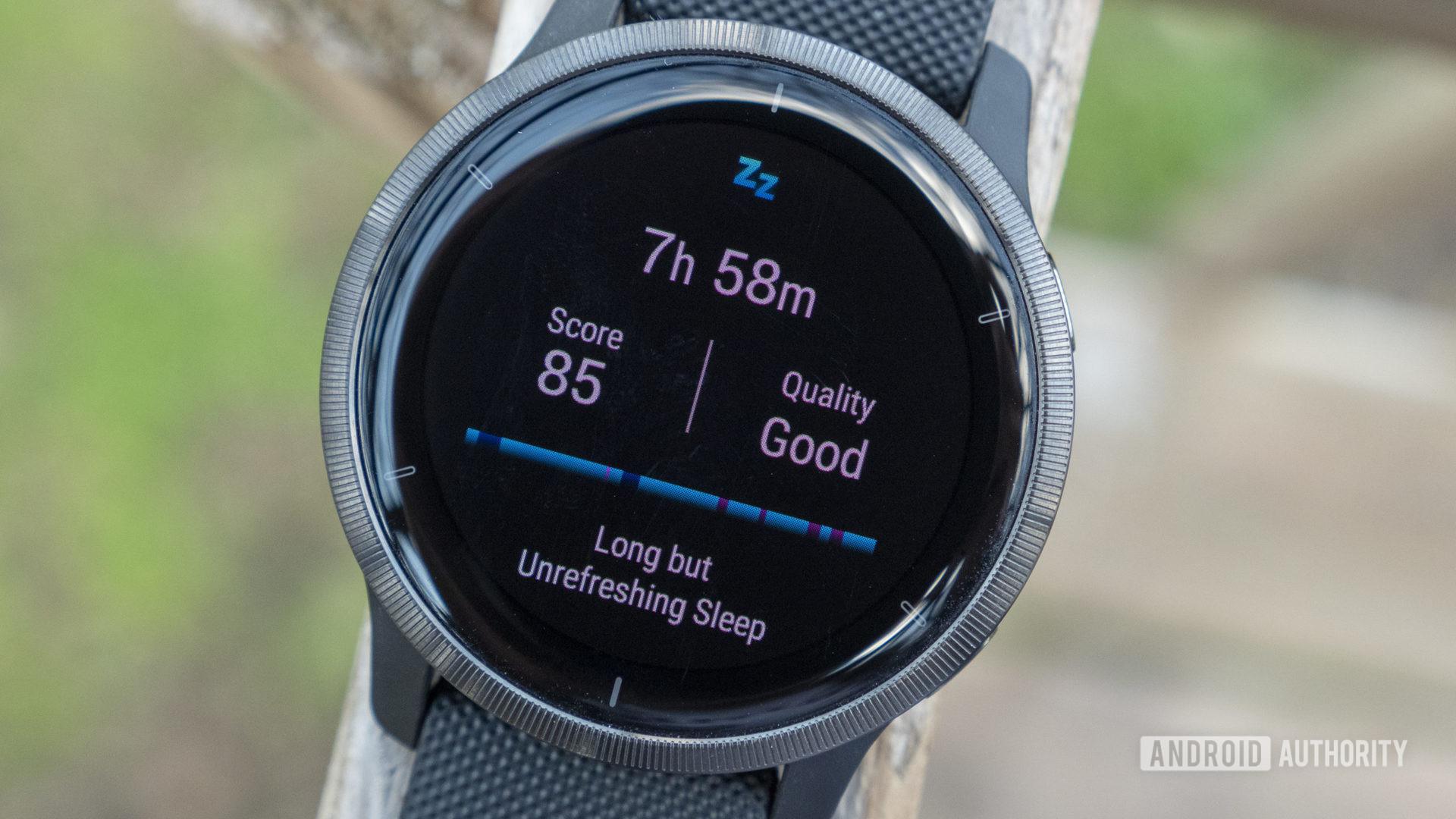 garmin venu 2 review sleep tracking sleep score