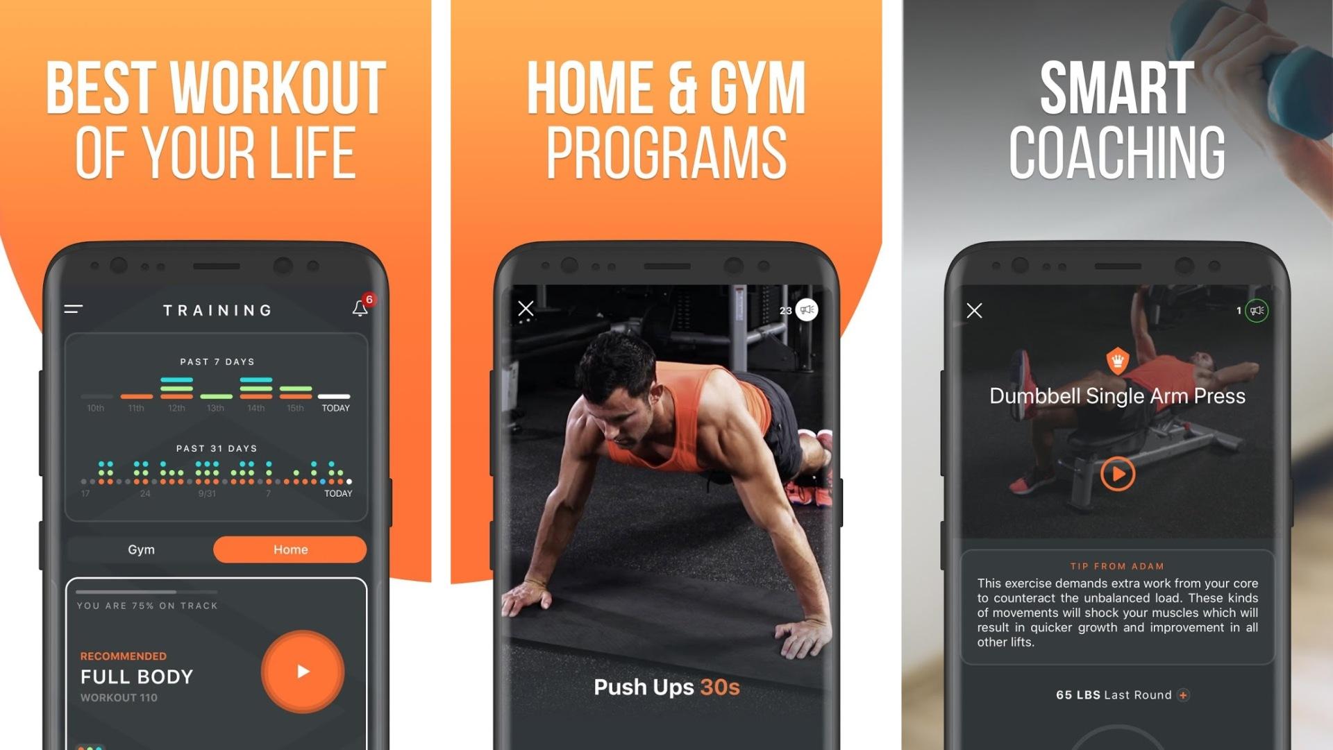 shred workout app screenshot