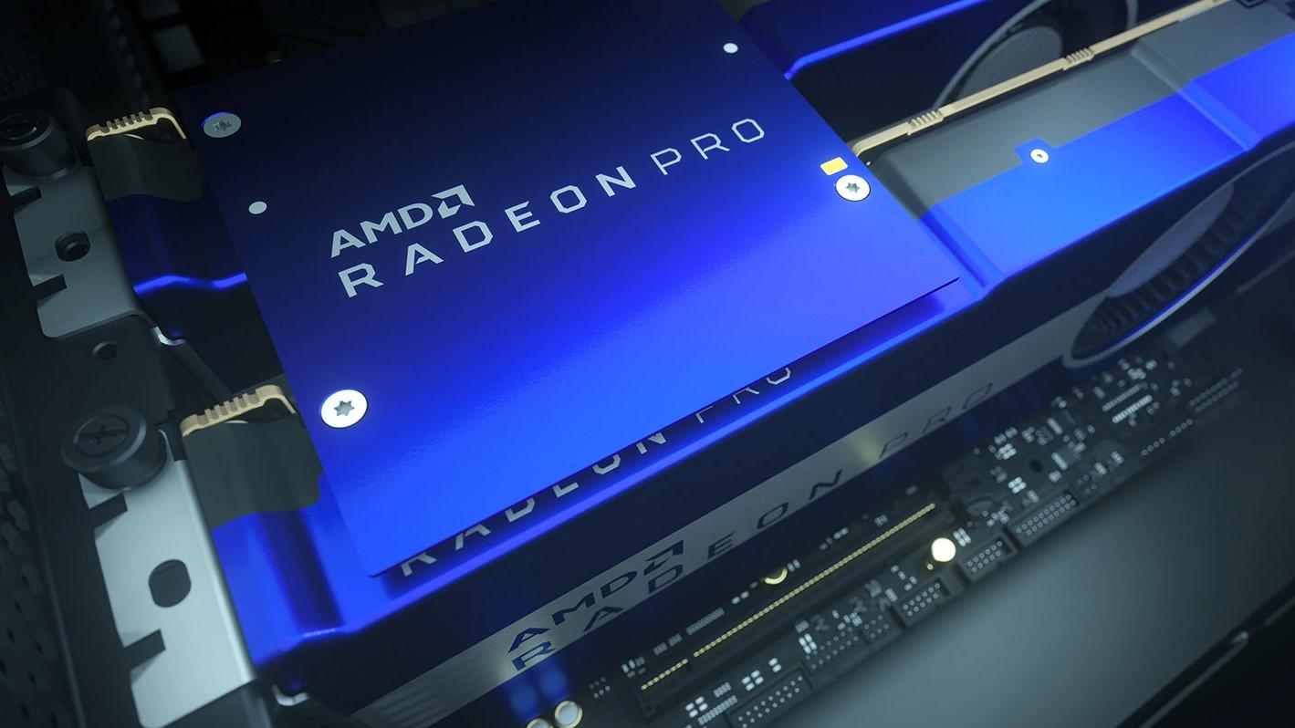 AMD Radeon Pro series GPU Radeon Pro VII installed