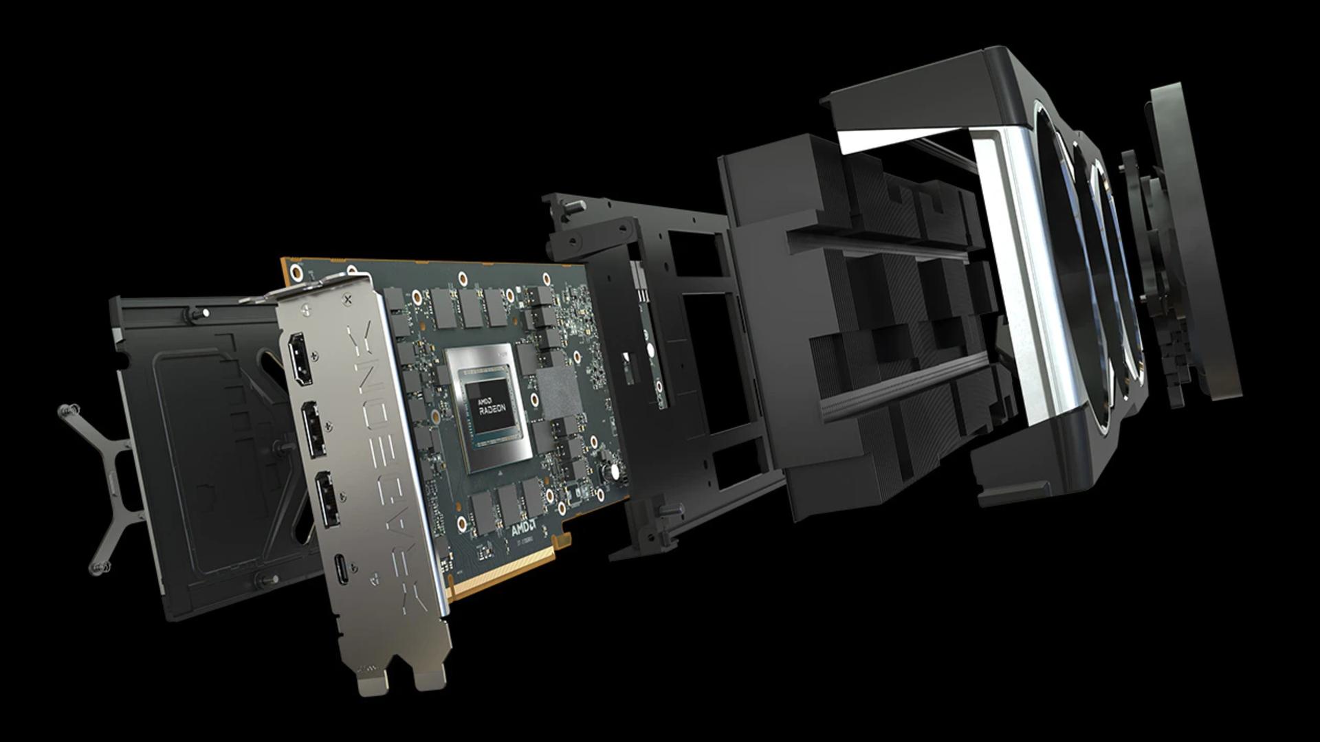 AMD Radeon RX 6800 XT pull apart view
