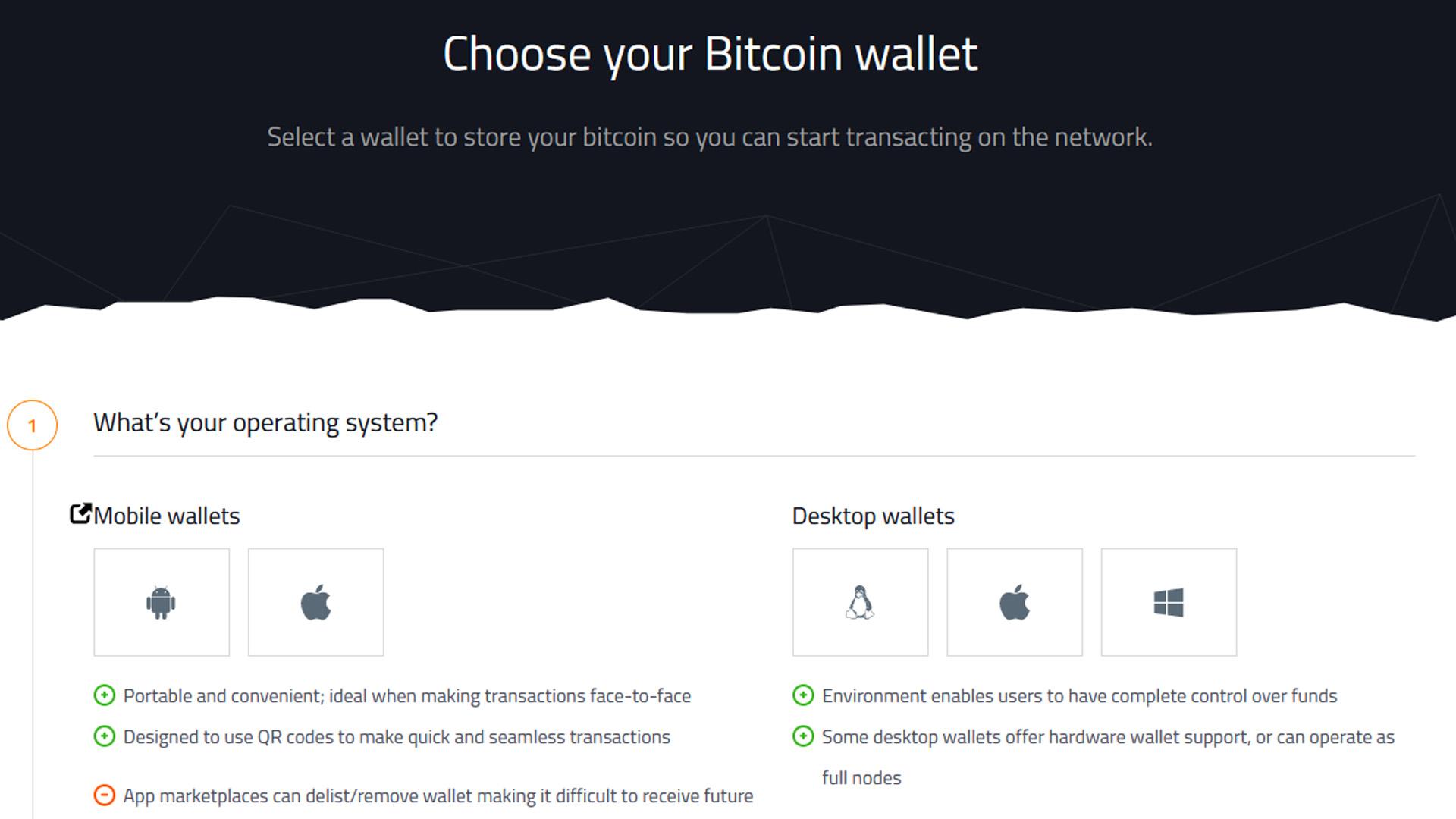 Choose your Bitcoin wallet