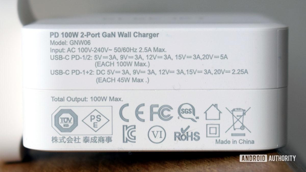 Electjet 100W USB C PD Power Adapter review specs