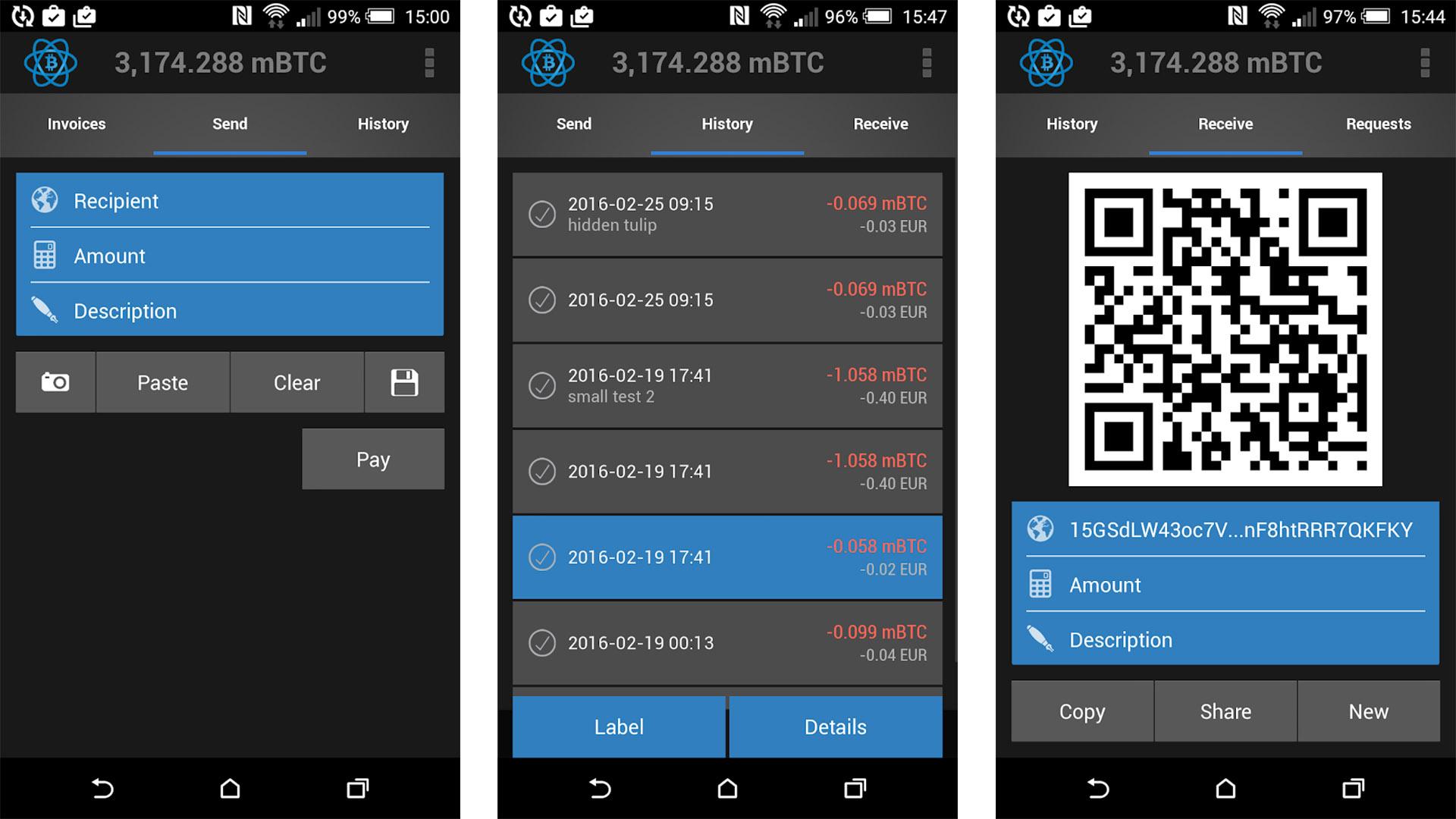 Electrum Bitcoin Wallet screenshot