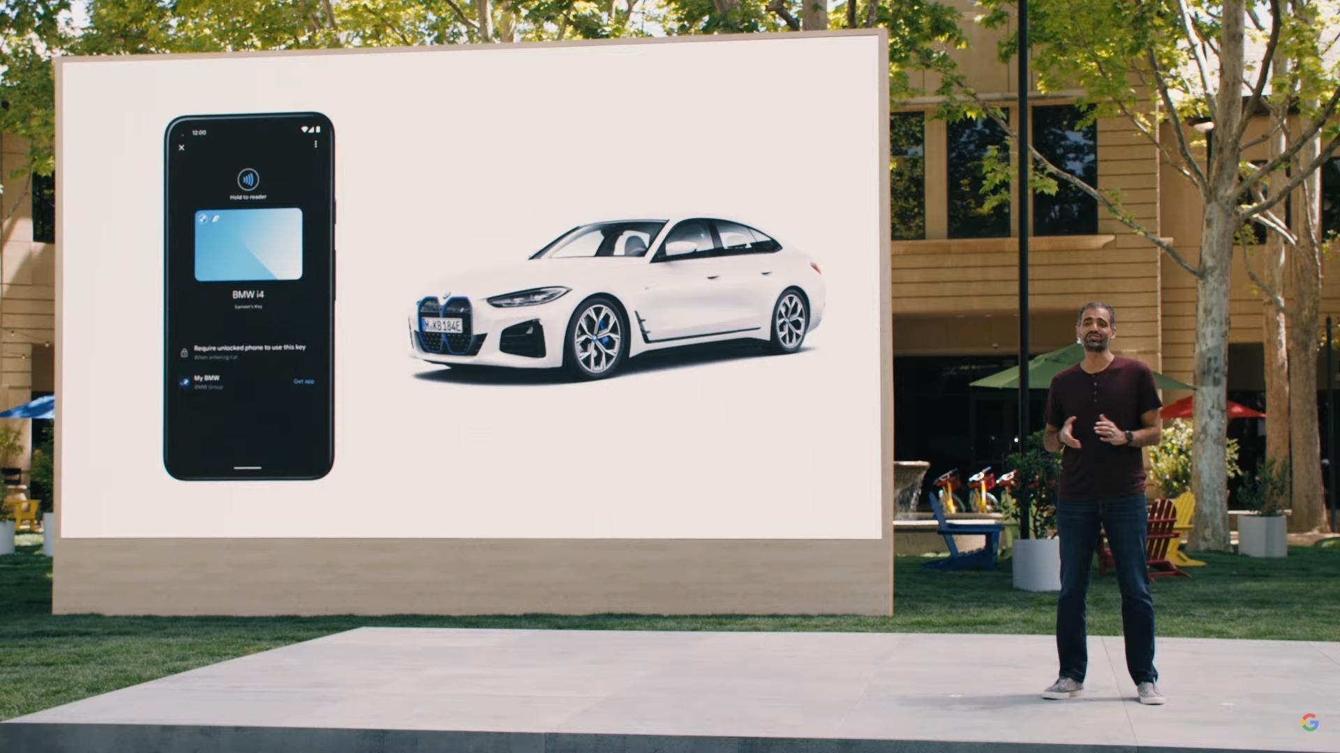 Google IO 2021 Sameer Samat talks Android 12 digital car key