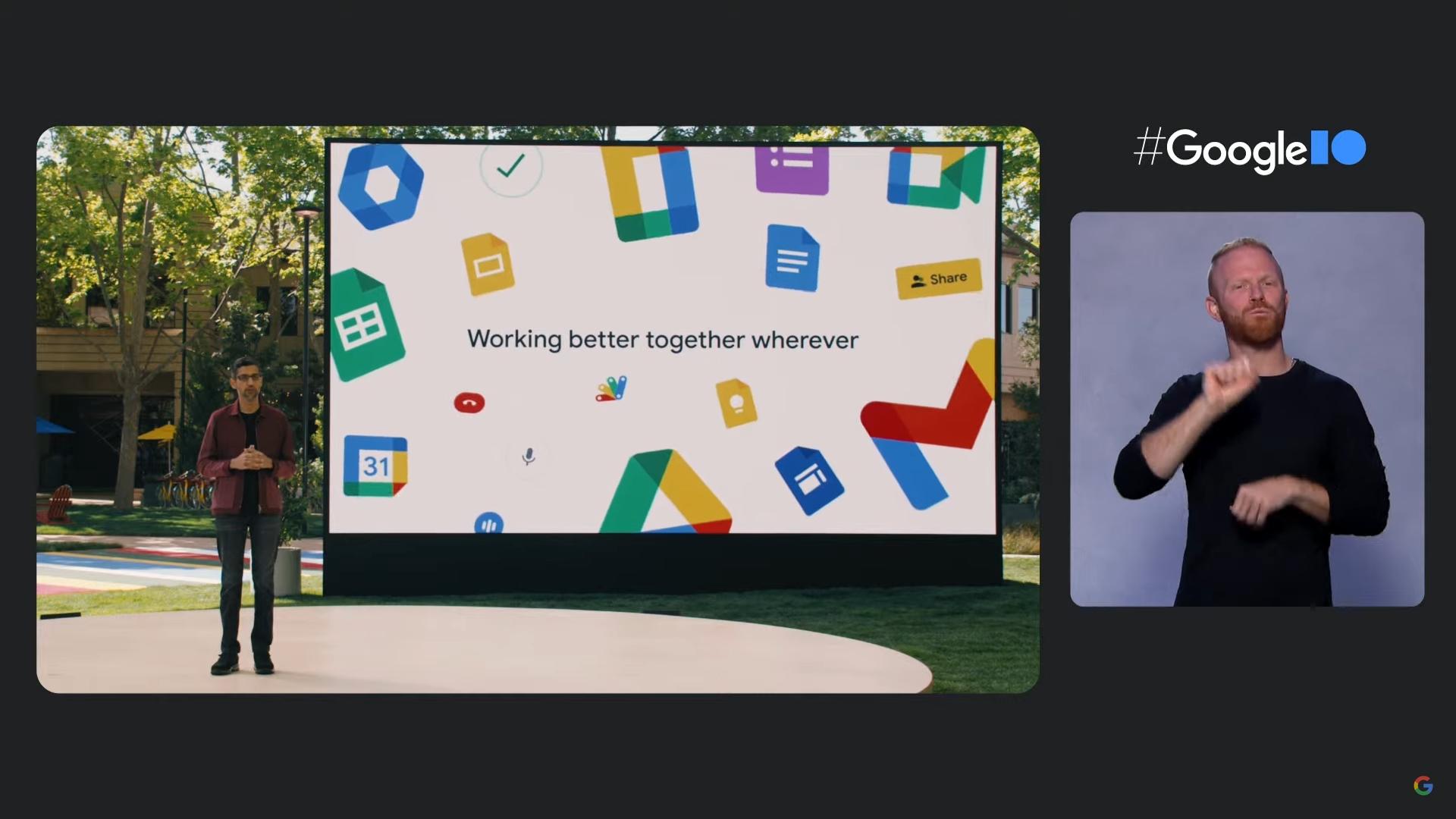 Google IO 2021 Sundar Pichai talks workspace