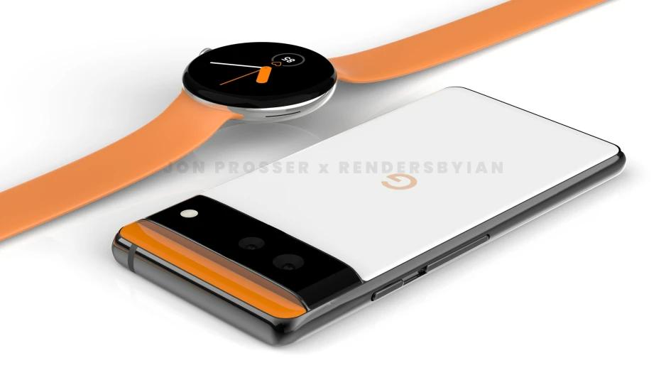 Google Pixel 6 Pro Leaked Renders with Pixel Watch 4