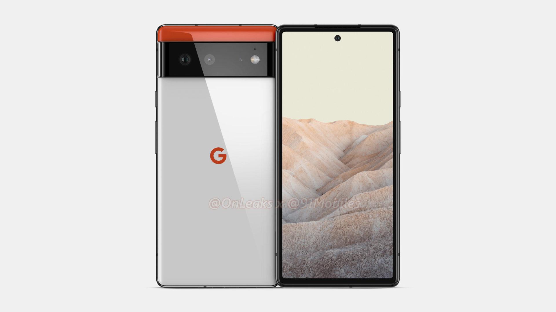 Google Pixel 6 render Onleaks