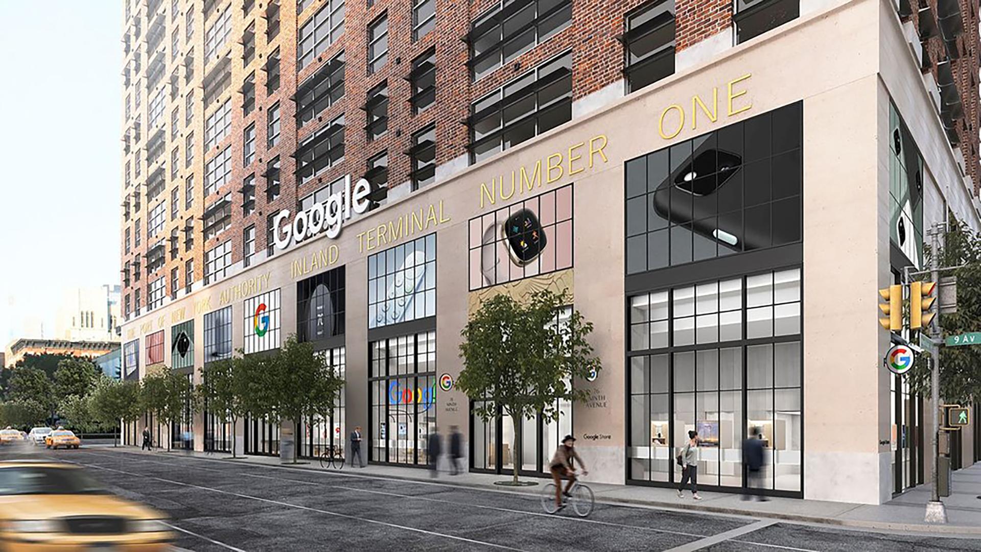 Google Store NYC Mock up