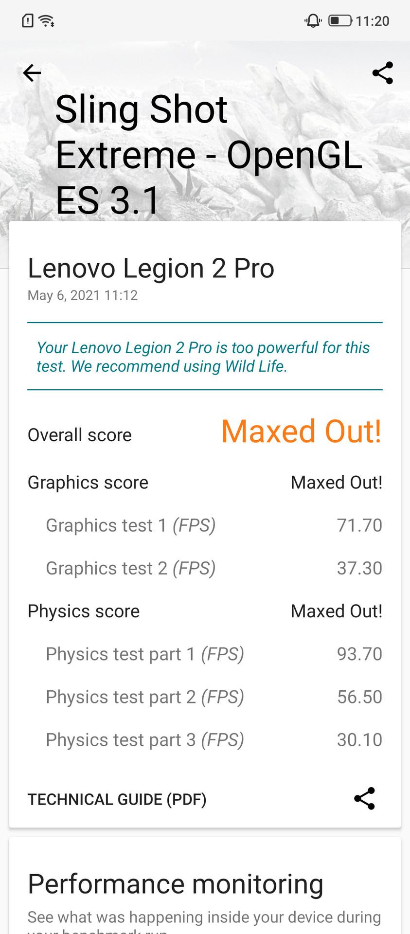 Lenovo Legion Duel 2 3DMark Benchmark 3