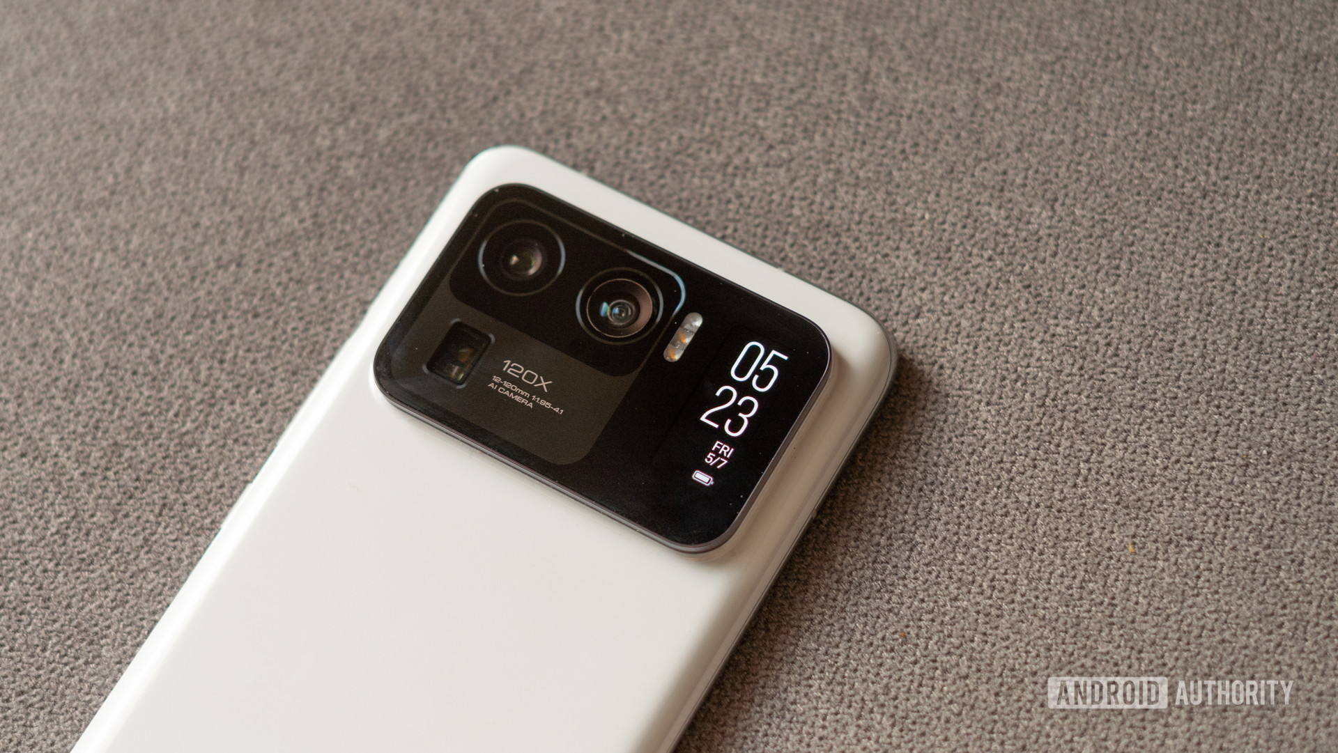 Mi 11 Ultra showing rear of the phone and camera
