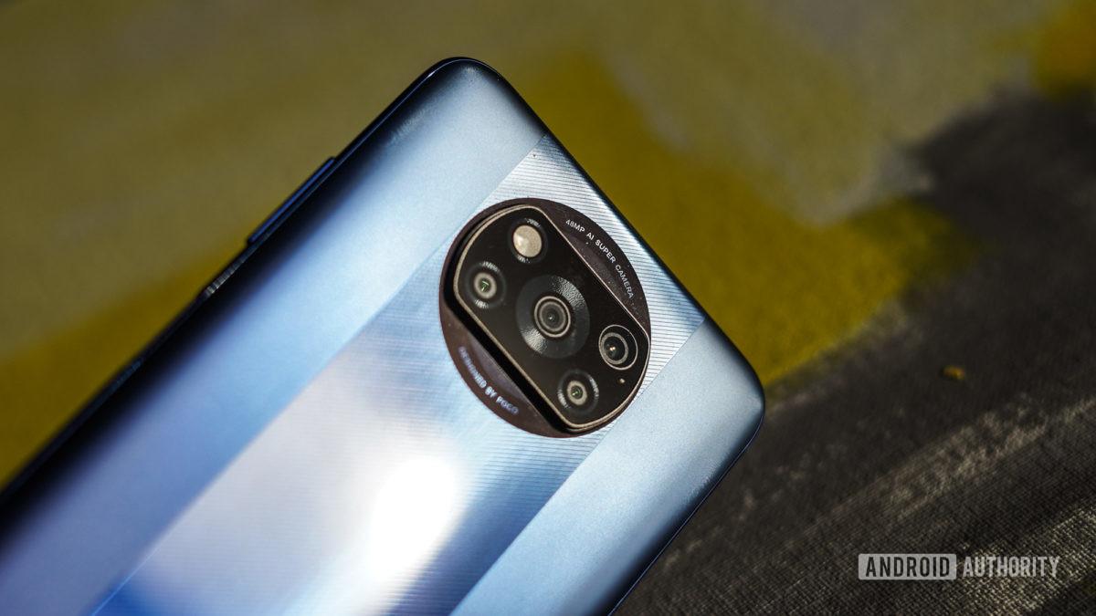 Poco X3 Pro camera close up