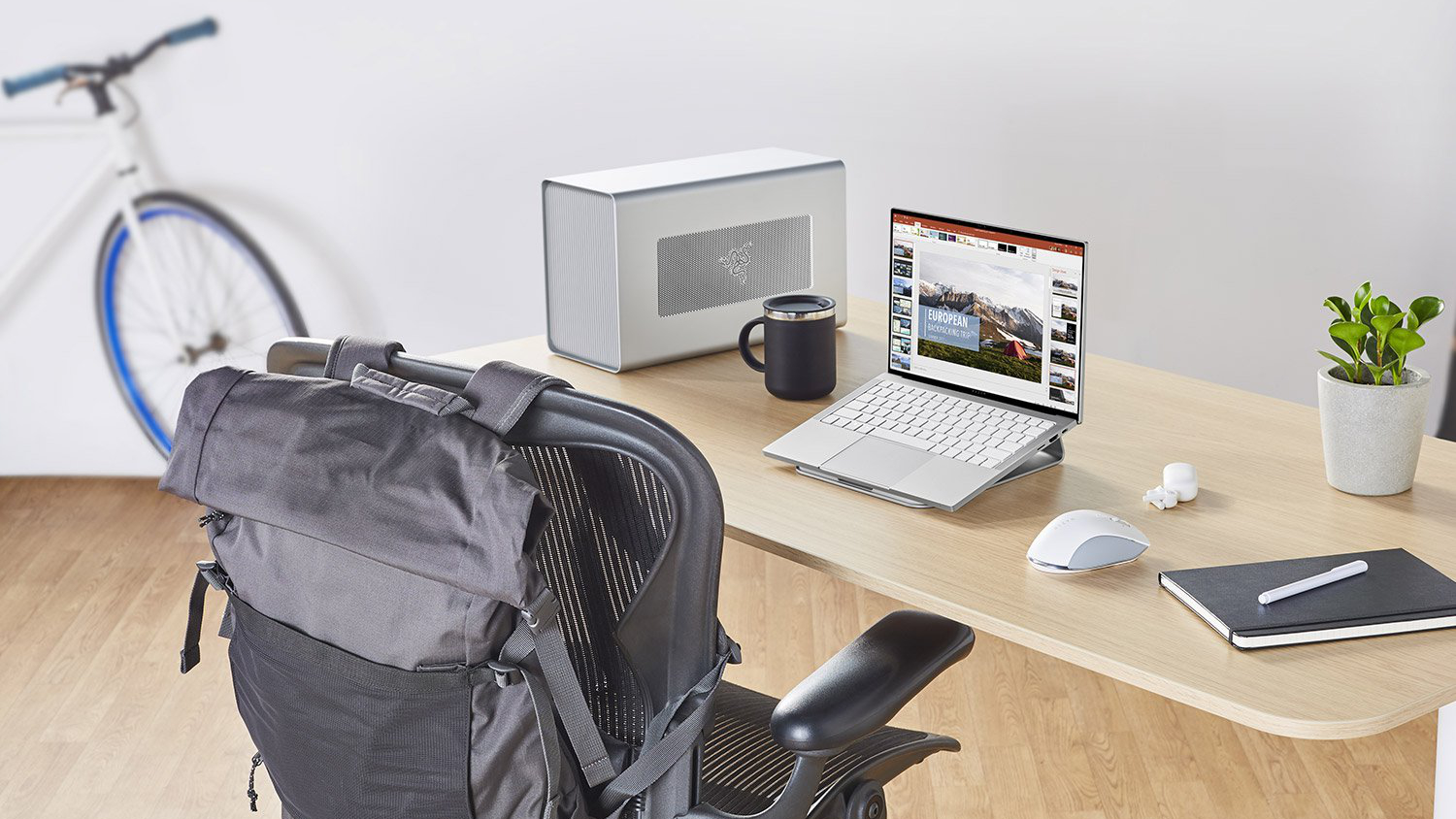 Gaming computer on desk