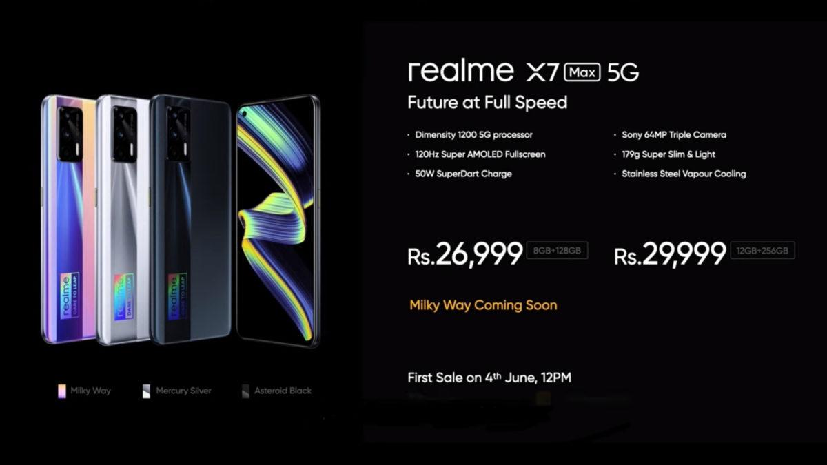 Realme X7 Max 5G pricing