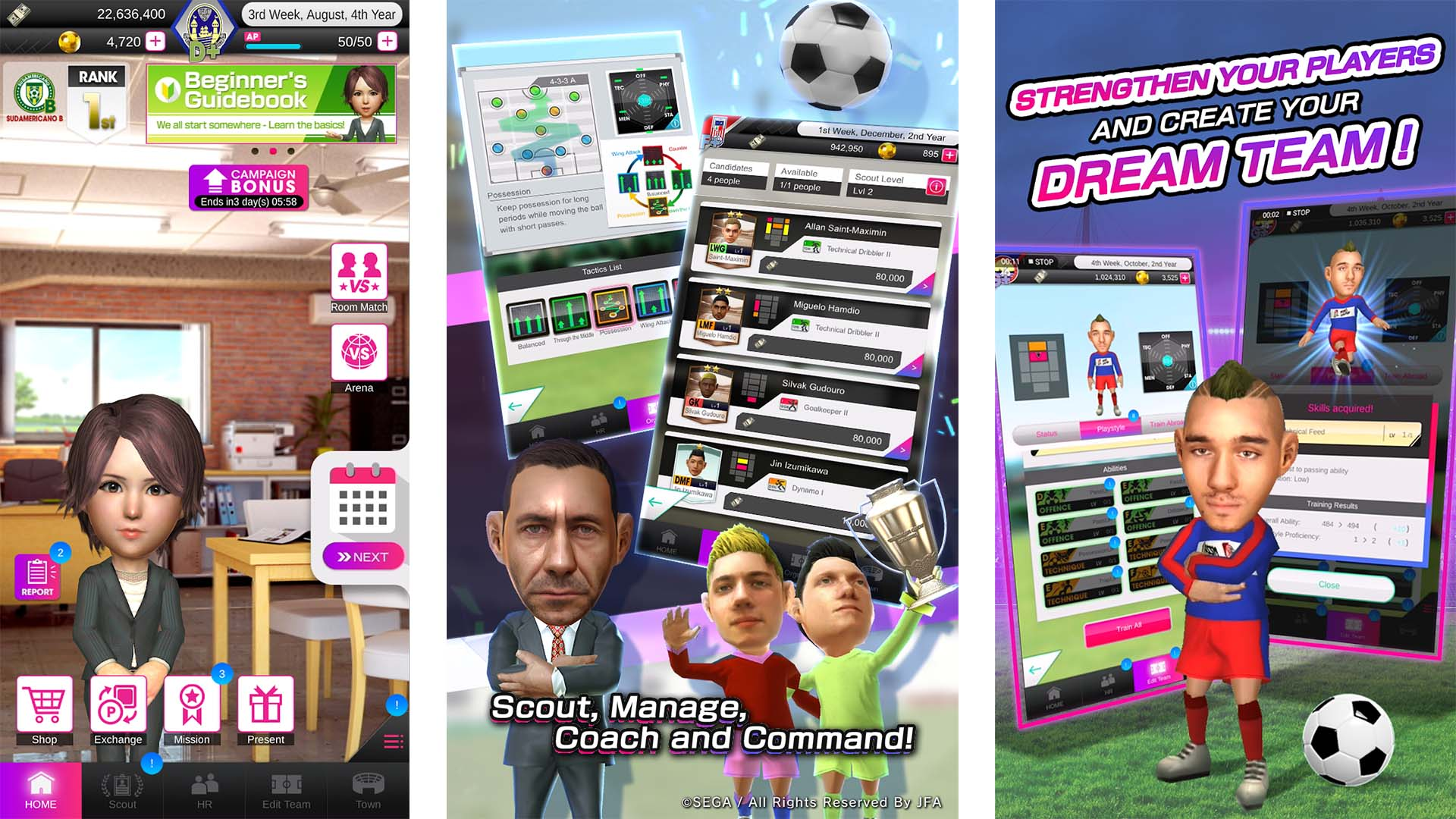Sega Pocket Club Manager screenshot