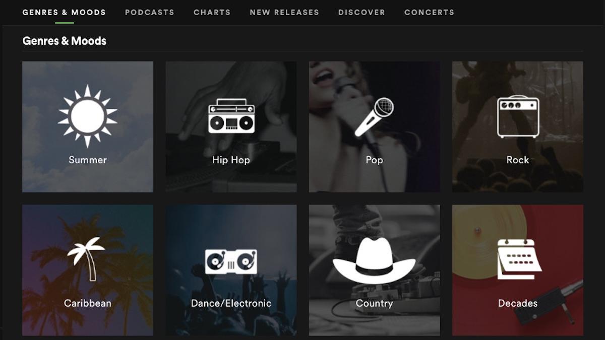 Spotify browsing