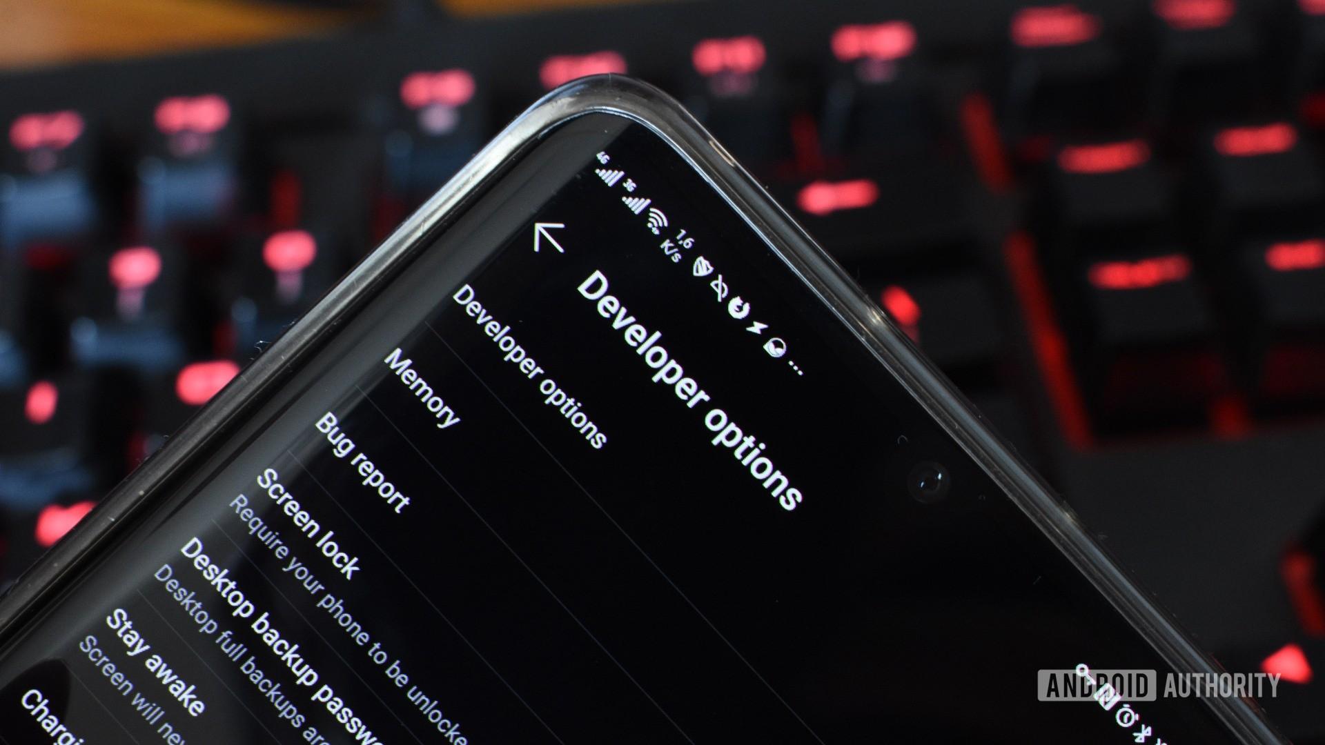 android developer options menu