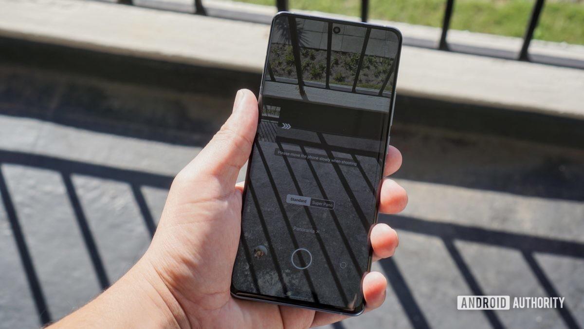 panorama mode smartphone edit