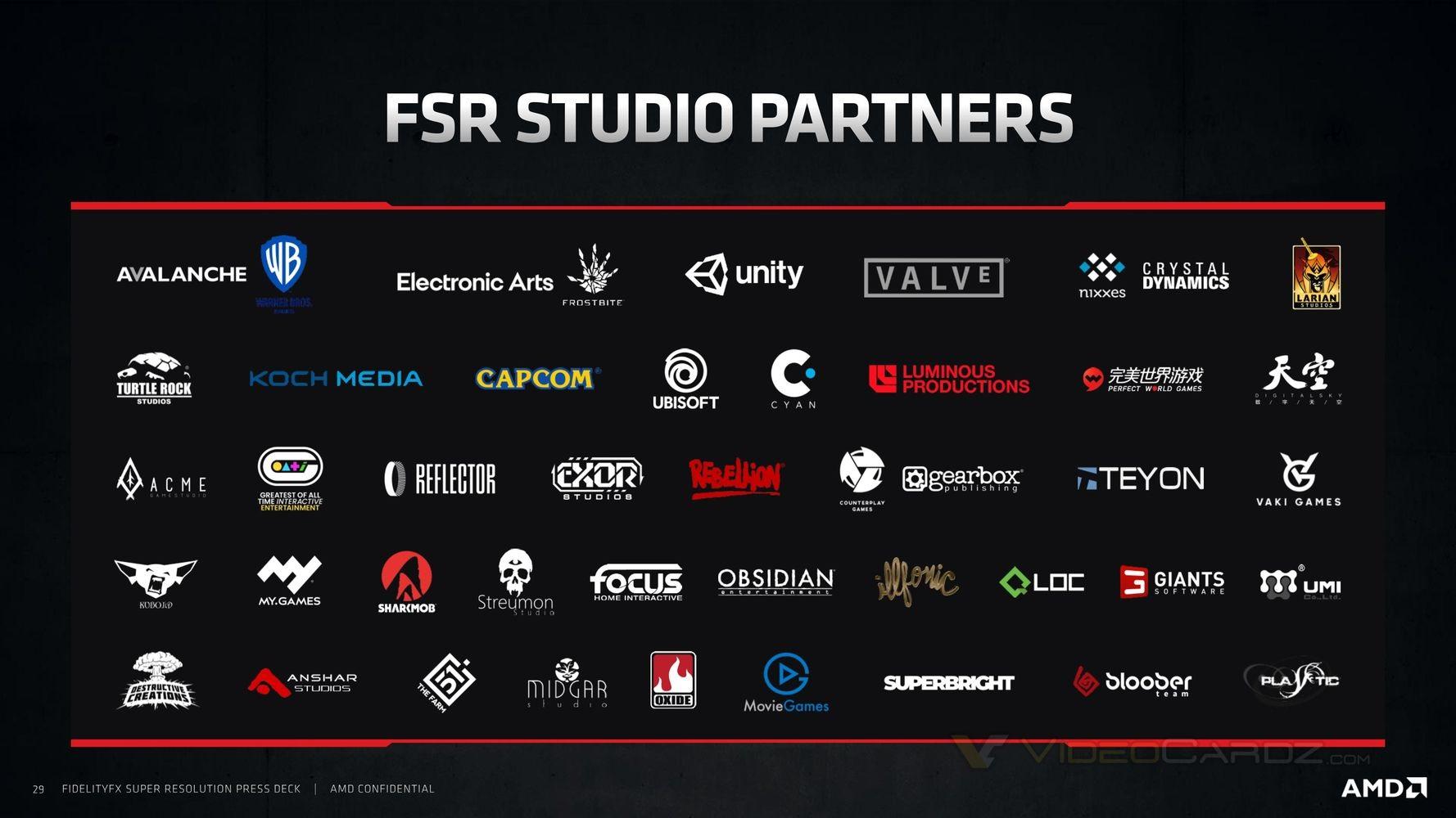 AMD FSR studio partners