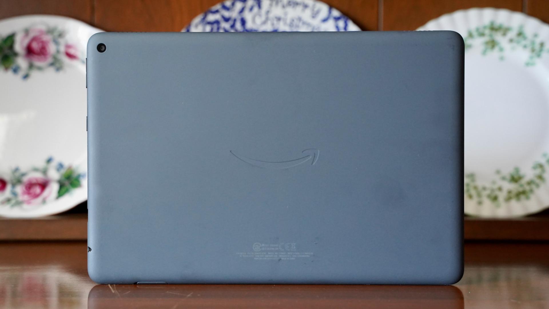The Amazon Fire HD 10 Plus rear panel.