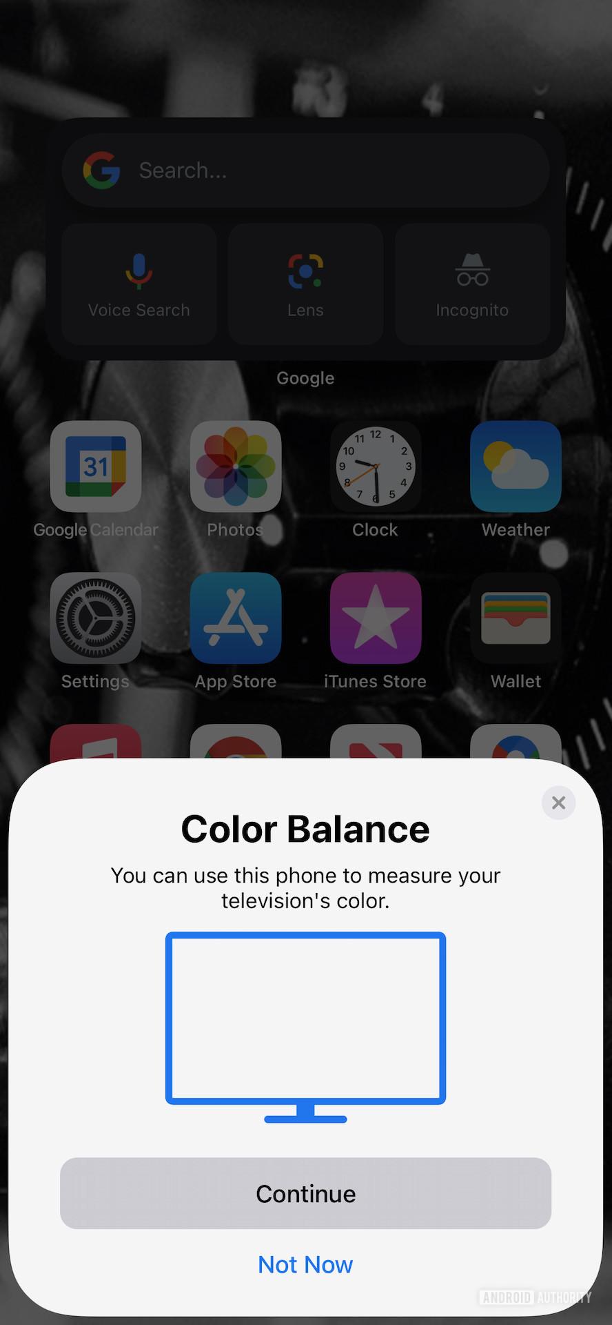 Apple TV 4K Color balance tool