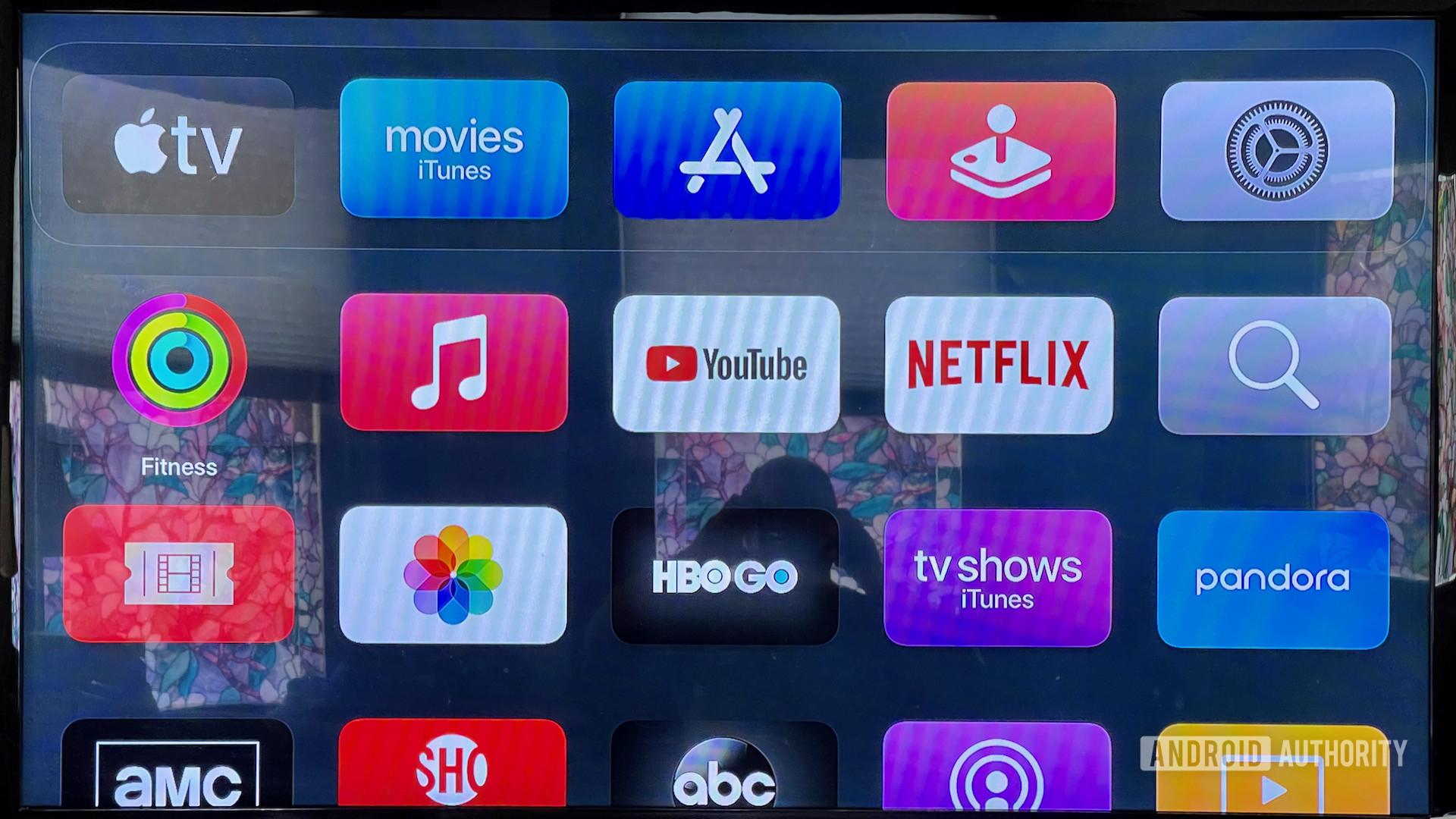Apple TV 4K Main app menu