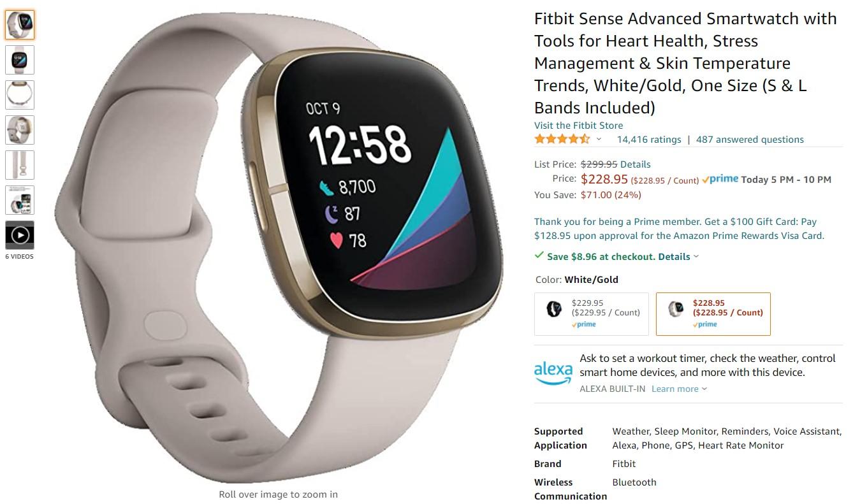 Fitbit Sense Amazon Deal