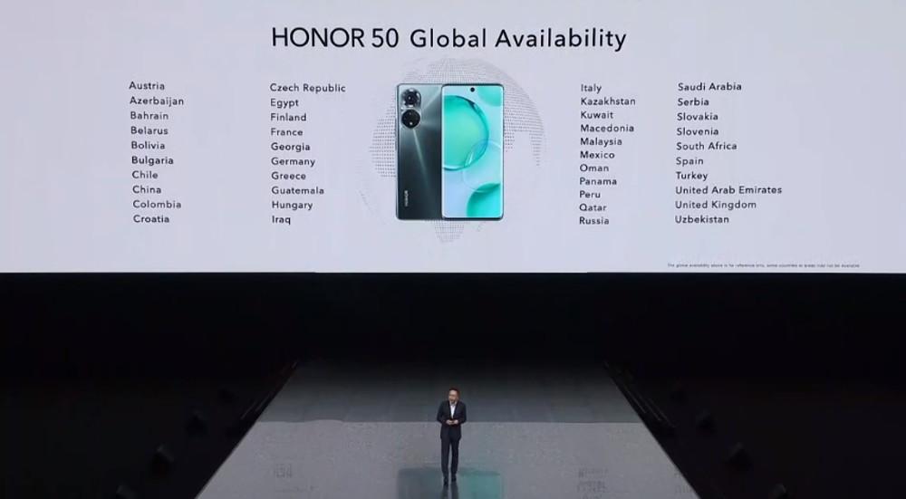 Honor 50 series availability