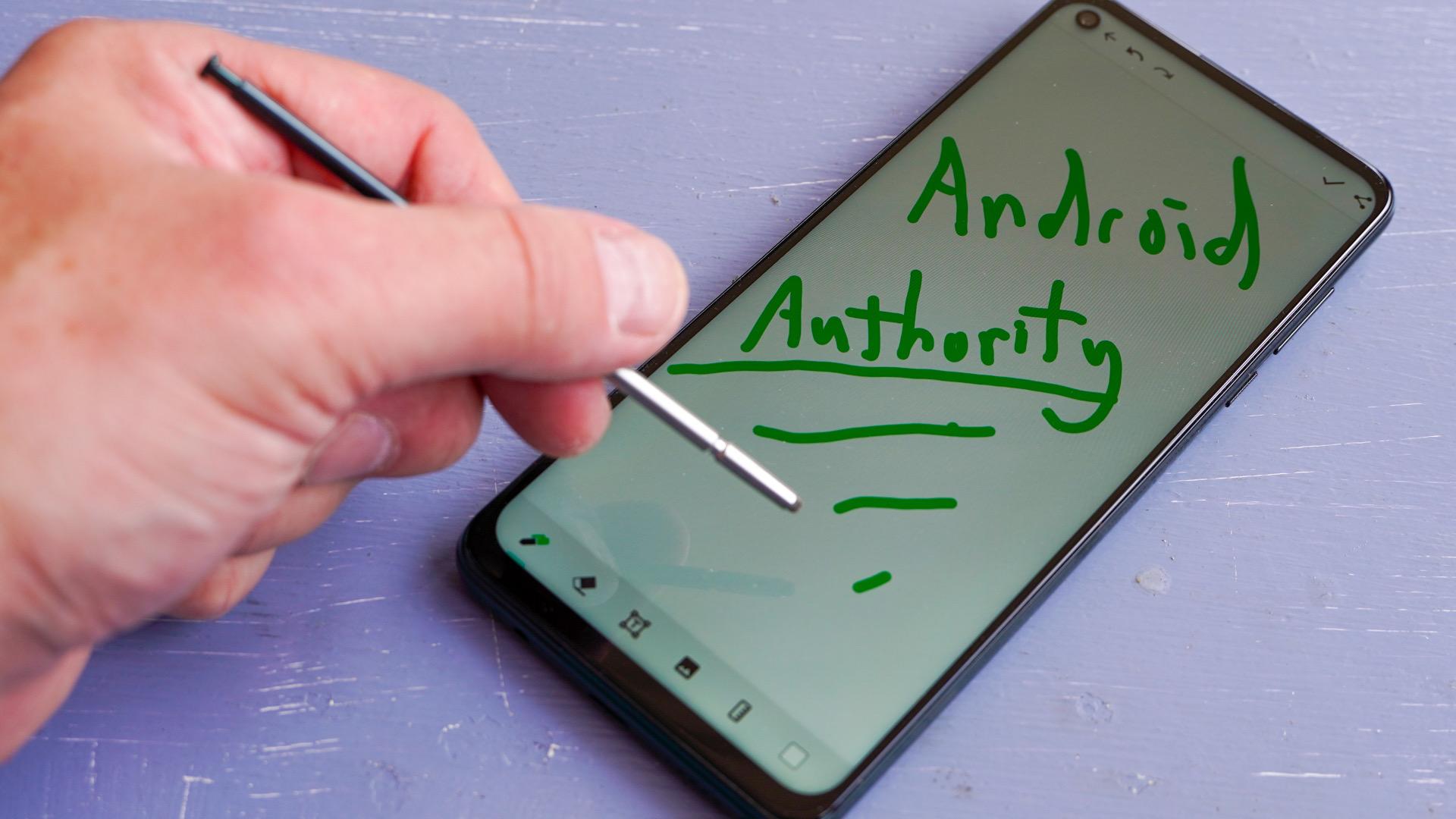 Motorola Moto G Stylus 5G with stylus