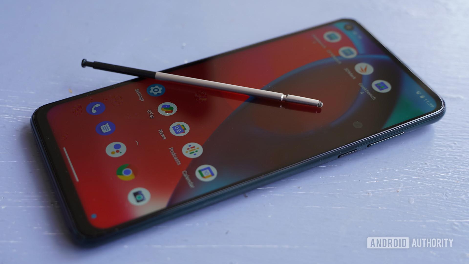 Motorola Moto G Stylus 5Gstylus on screen