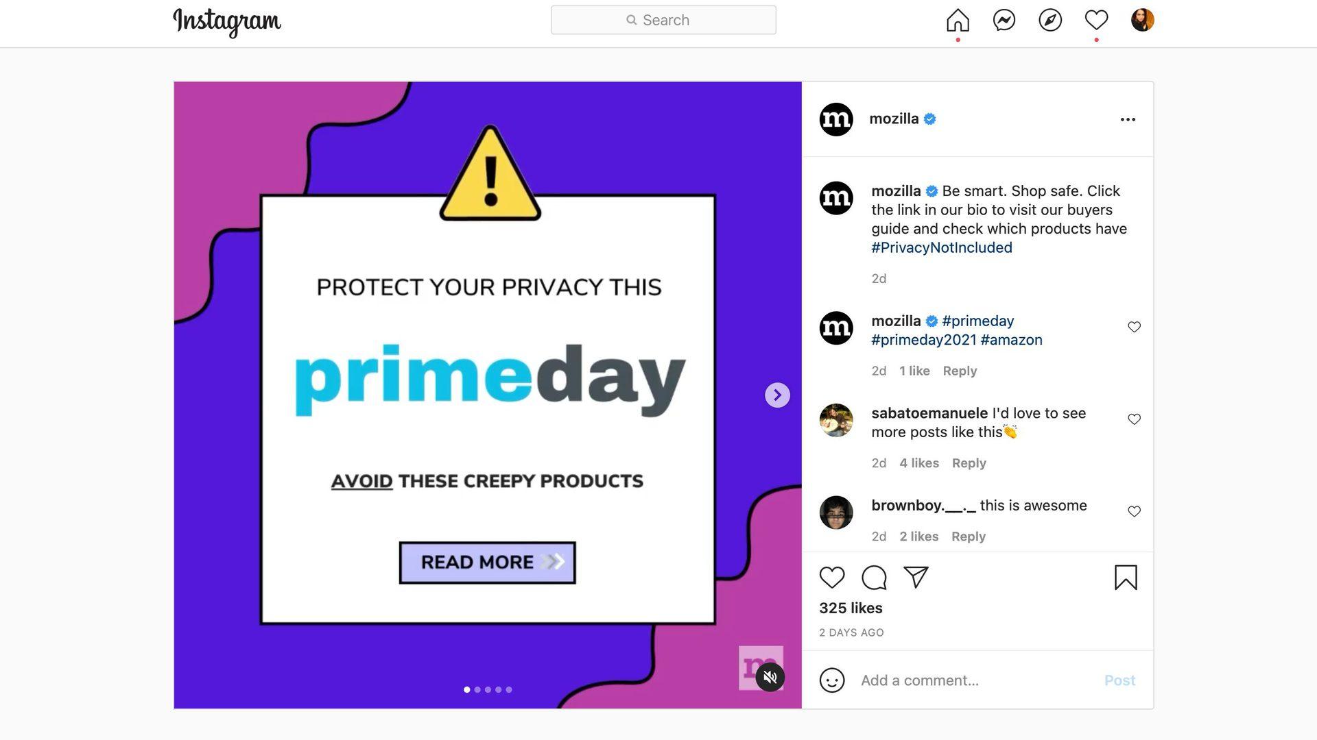 Mozilla Prime Day 2021 Creepy Products list