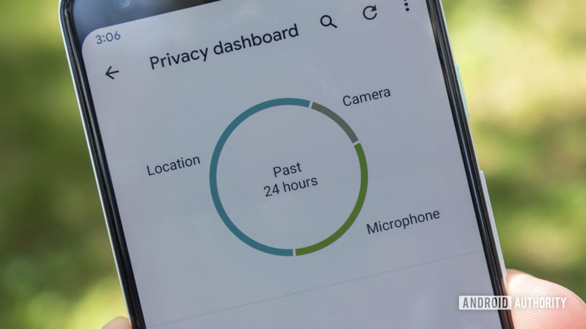 android 12 beta 2 privacy dashboard pie chart 2