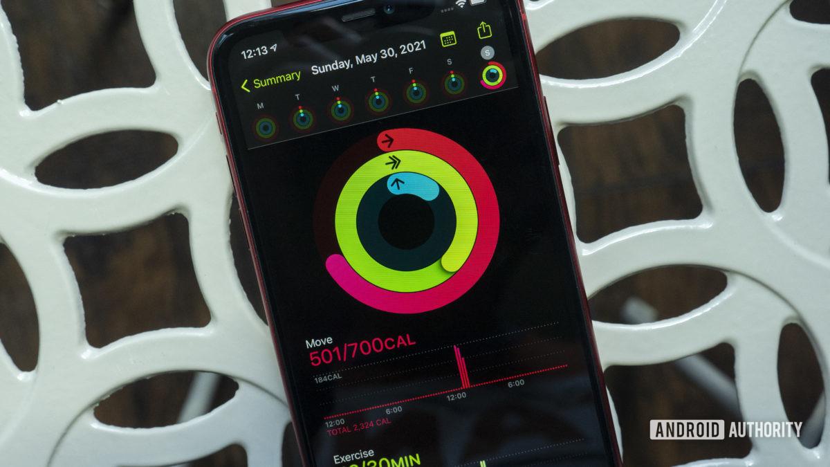 apple fitness app rings iphone 11
