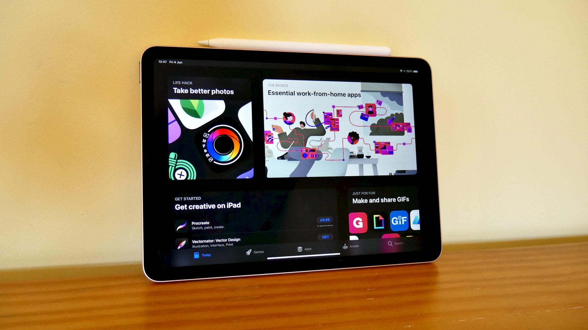 apple ipad air 2020 review app store