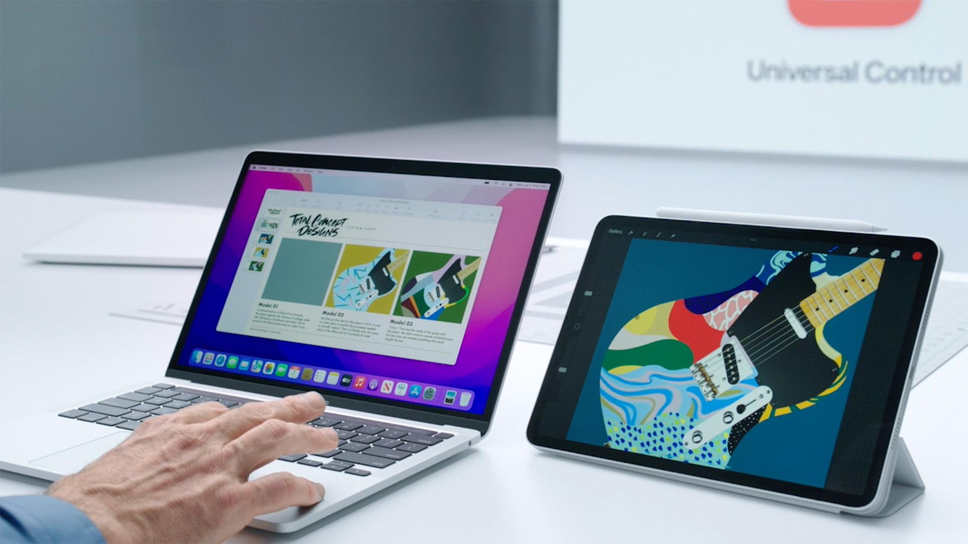 apple ipados 15 universal control on ipad