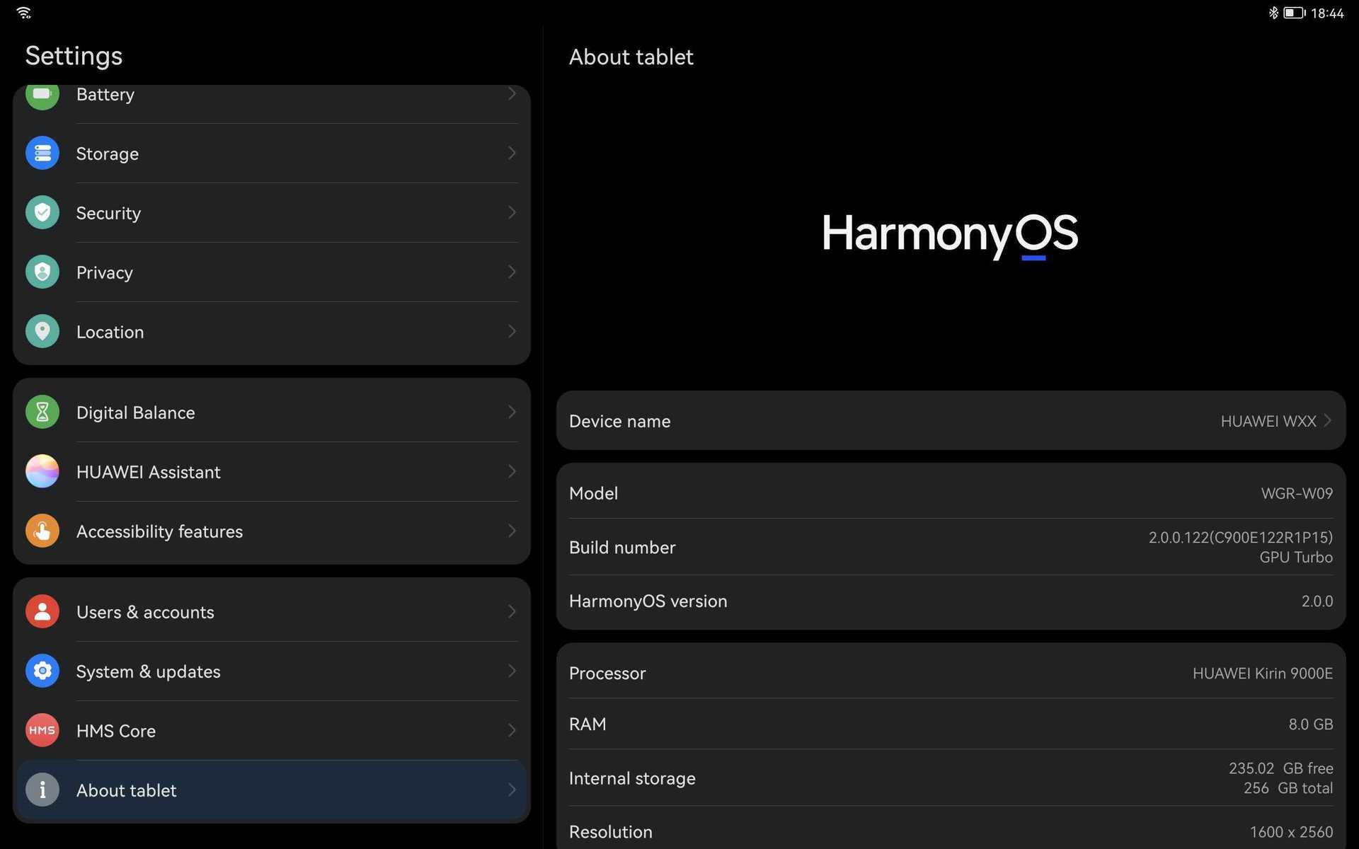 harmony os screenshot settings example 1