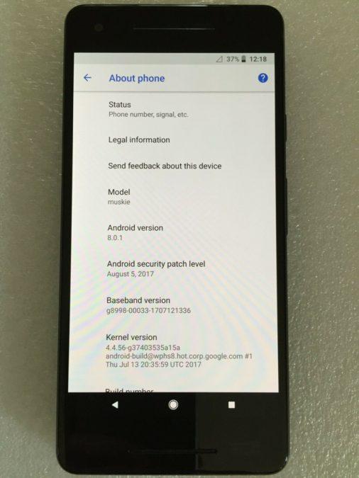 Google Pixel 2 XL Muskie prototype