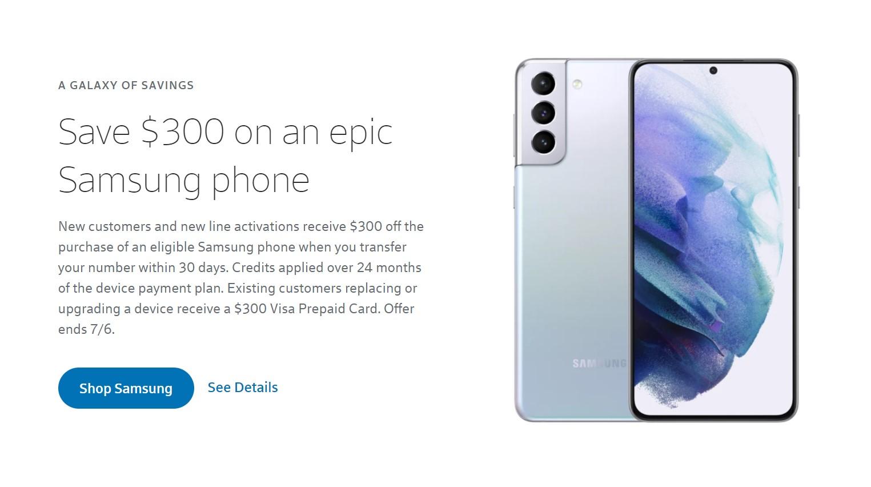 xfinity mobile samsung deal