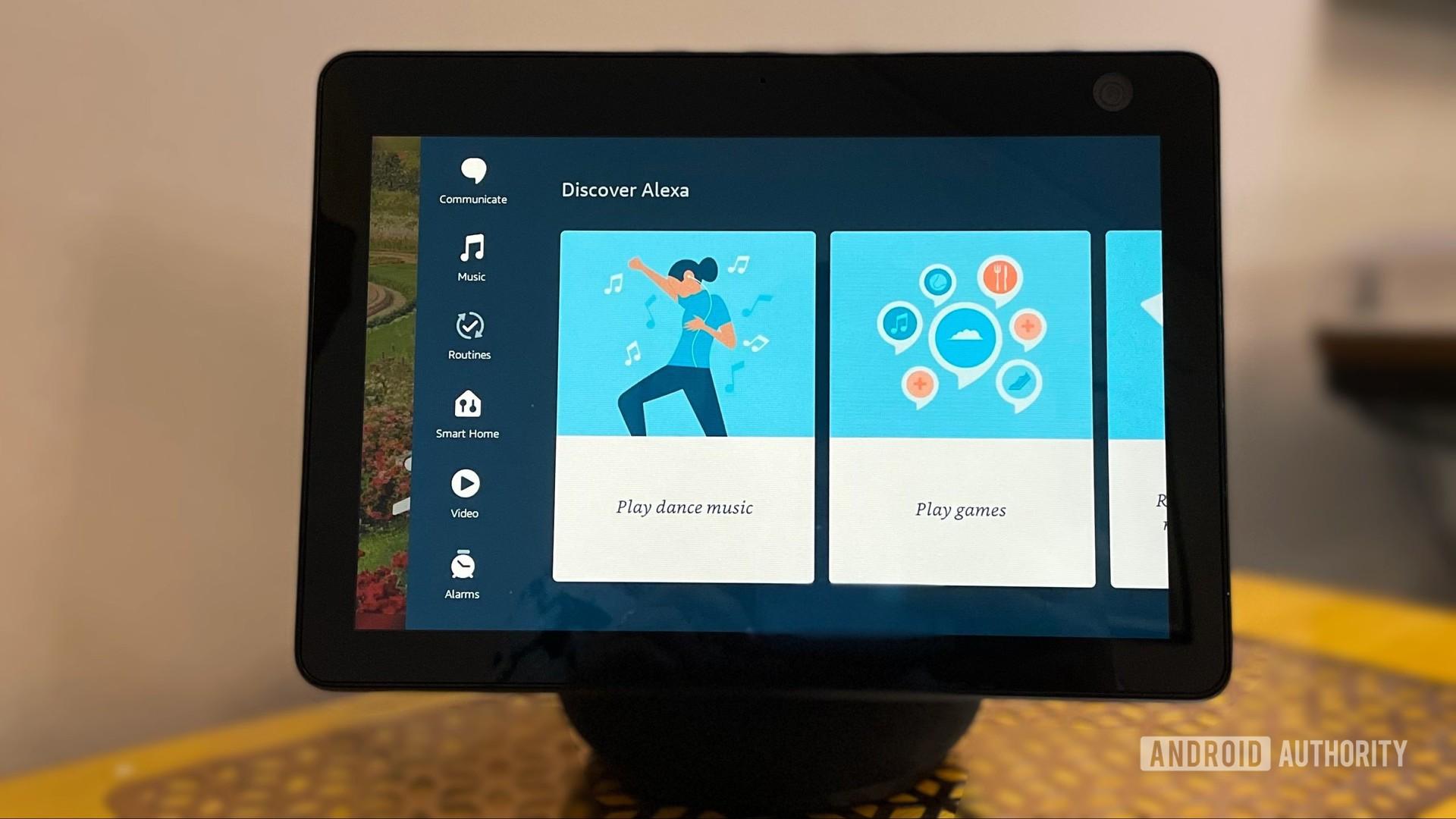 Amazon Echo Show 10 menu